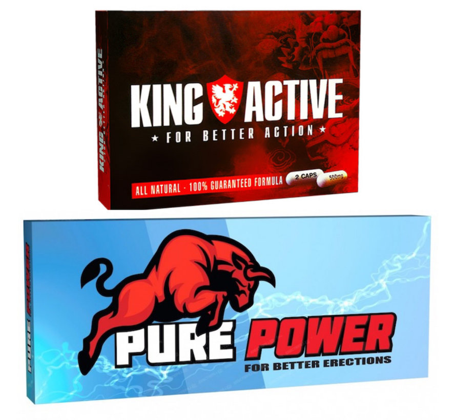 Erectiepillen | Aanbieding! King Active | Pure Power.