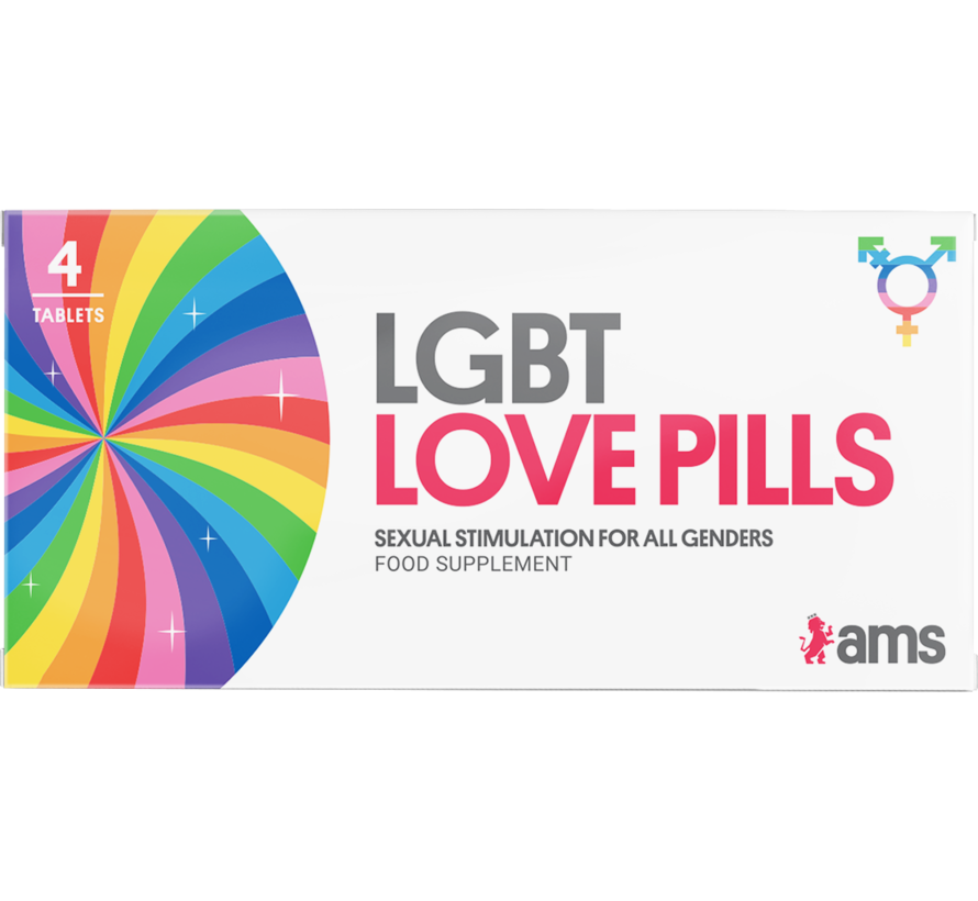 LGBT Love Pills - 4 tabletten - Libidopillen - Afrodisiacum.