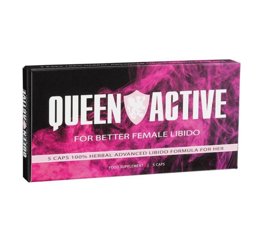 Queen Active - 5 Kapseln - Potenzmittel Frau