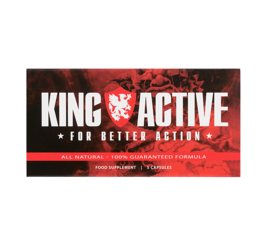 King Active - 5 Kapseln - Potenzmittel