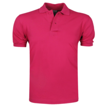 VDHT - Trendy Einfarbig Herren Polo Shirt - Regular Fit - Rosa