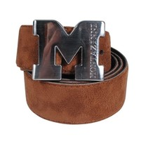 Montazinni Montazinni - Suede Belt With Silvern Buckle - Brown