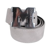 Montazinni Montazinni - Suede Belt With Silvern Buckle - Grey