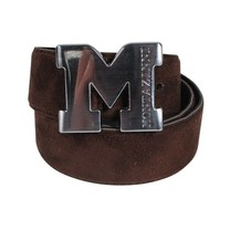 Montazinni Montazinni - Suede Belt With Silvern Buckle - Dark Brown