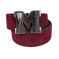 Montazinni Montazinni - Suede Belt With Silvern Buckle - Bordeaux