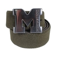 Montazinni Montazinni - Suede Belt With Silvern Buckle - Olive