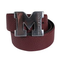 Montazinni Montazinni - Leatherlook Belt With Silvern Buckle - Bordeaux