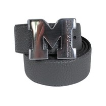 Montazinni Montazinni - Leatherlook Belt With Silvern Buckle - Grey