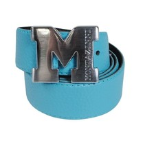 Montazinni Montazinni - Leatherlook Belt With Silvern Buckle - Turquoise