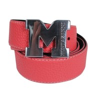 Montazinni Montazinni - Leatherlook Belt With Silvern Buckle - Red