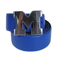 Montazinni Montazinni - Leatherlook Belt With Silvern Buckle - Blue
