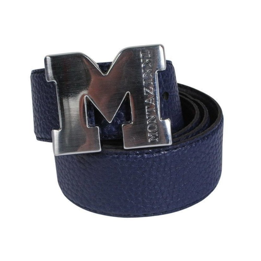 Montazinni Montazinni - Leatherlook Belt With Silvern Buckle - Navy