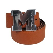 Montazinni Montazinni - Leatherlook Belt With Silvern Buckle - Brown