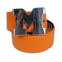 Montazinni Montazinni - Leatherlook Belt With Silvern Buckle - Orange