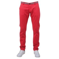 New Republic Biaggio - Taniel - Chino pour Homme - Longueur 34 - Rouge