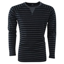 Capricho - Trendy Men's Pullover - Striped - Pulli Damian - FG-2 - Black