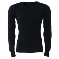 New Republic - Men's Pullover - V Neck - Knitted - Navy
