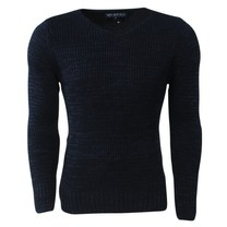New Republic - Men's Pullover - V-Neck - Heavy Knitted - Navy