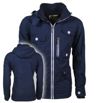 New Republic Soulstar - Heren Zomerjas - Fleece Voering - Capuchon - Mountaineer - Navy
