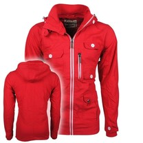 New Republic Soulstar - Heren Zomerjas - Fleece Voering - Capuchon - Mountaineer - Rood