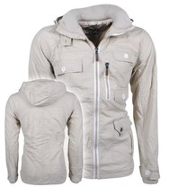 New Republic Soulstar - Heren Zomerjas - Fleece Voering - Capuchon - Mountaineer - Beige