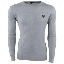 Carisma Carisma - Men's Pullover - Round Neck - Fine Knitted - Slim Fit - Grey
