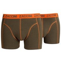 Zaccini Zaccini - 2-Packs Boxers - Armée - Orange
