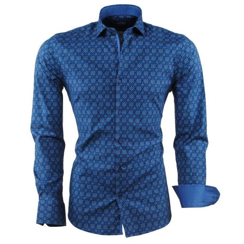 Montazinni  Dom Tower - Chemise homme - Stretch - Marine