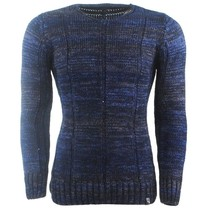Carisma Carisma - Pull pour homme - Col rond - Maille fine - Marine