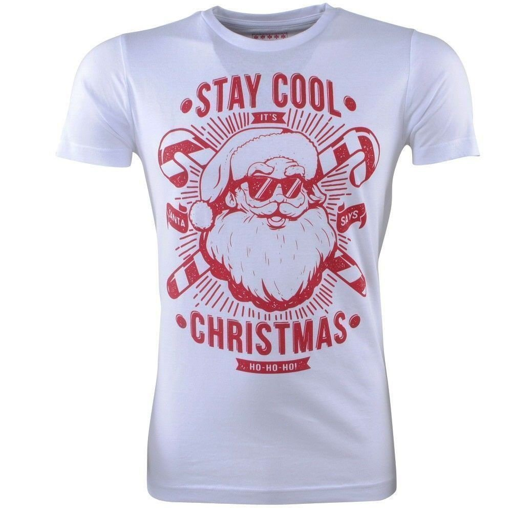 Ferlucci Ferlucci - Unisex Christmas T-Shirt - Round Neck - Stay Cool - White