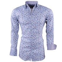 Montazinni Montazinni - Chemise pour homme - Peacock - Stretch - Gris