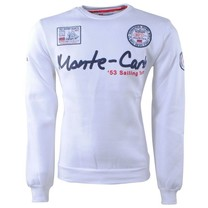Geographical Norway Geographical Norway - Heren Sweater - Monte Carlo - Ronde Hals - Folo - Wit