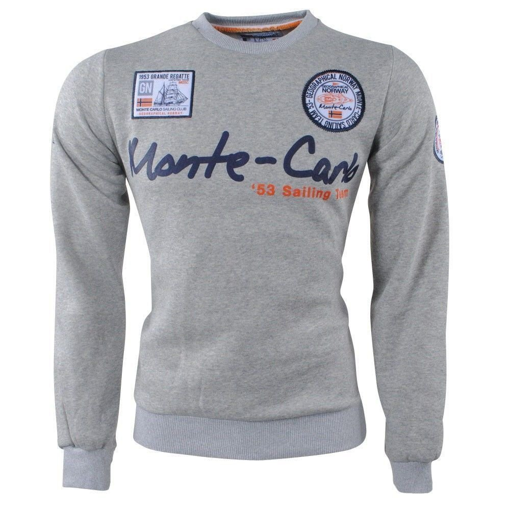 Geographical Norway Geographical Norway - Herren Pullover - Monte Carlo - Rundhals - Folo - Grau