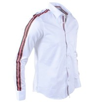 Carisma Carisma - Men's Shirt - Stretch - Striped - White
