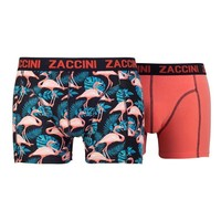 Zaccini Zaccini - 2-Pack Boxershorts - Flamingo - Uni - Orange