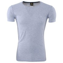 Megaman - Men's T-Shirt - Round Neck - Stretch - Grey