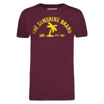 Shiwi Shiwi  - Men's T-Shirt - Round Neck - Palm - Bordeaux Red