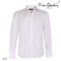 Pierre Cardin Pierre Cardin - Heren Overhemd - Stretch - Wit