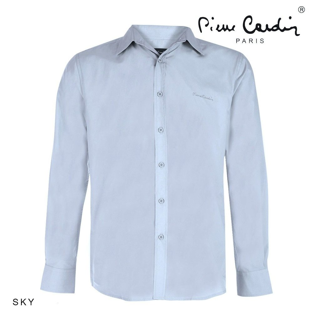 Pierre Cardin Pierre Cardin - Heren Overhemd - Stretch - Sky Blue