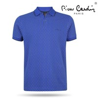 Pierre Cardin Pierre Cardin - Heren Polo - Gestippeld - Royal Blue