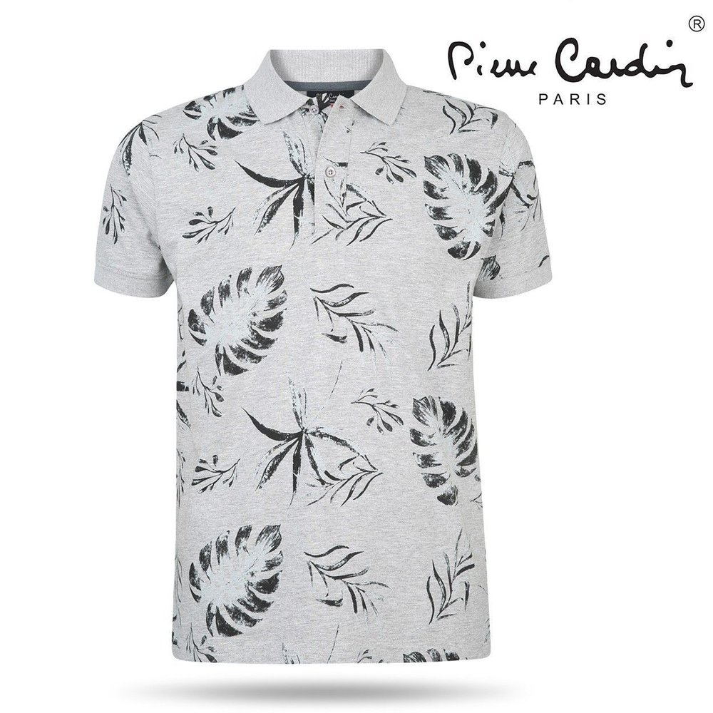 Pierre Cardin Pierre Cardin - Men's Polo Shirt - Flowers - Grey