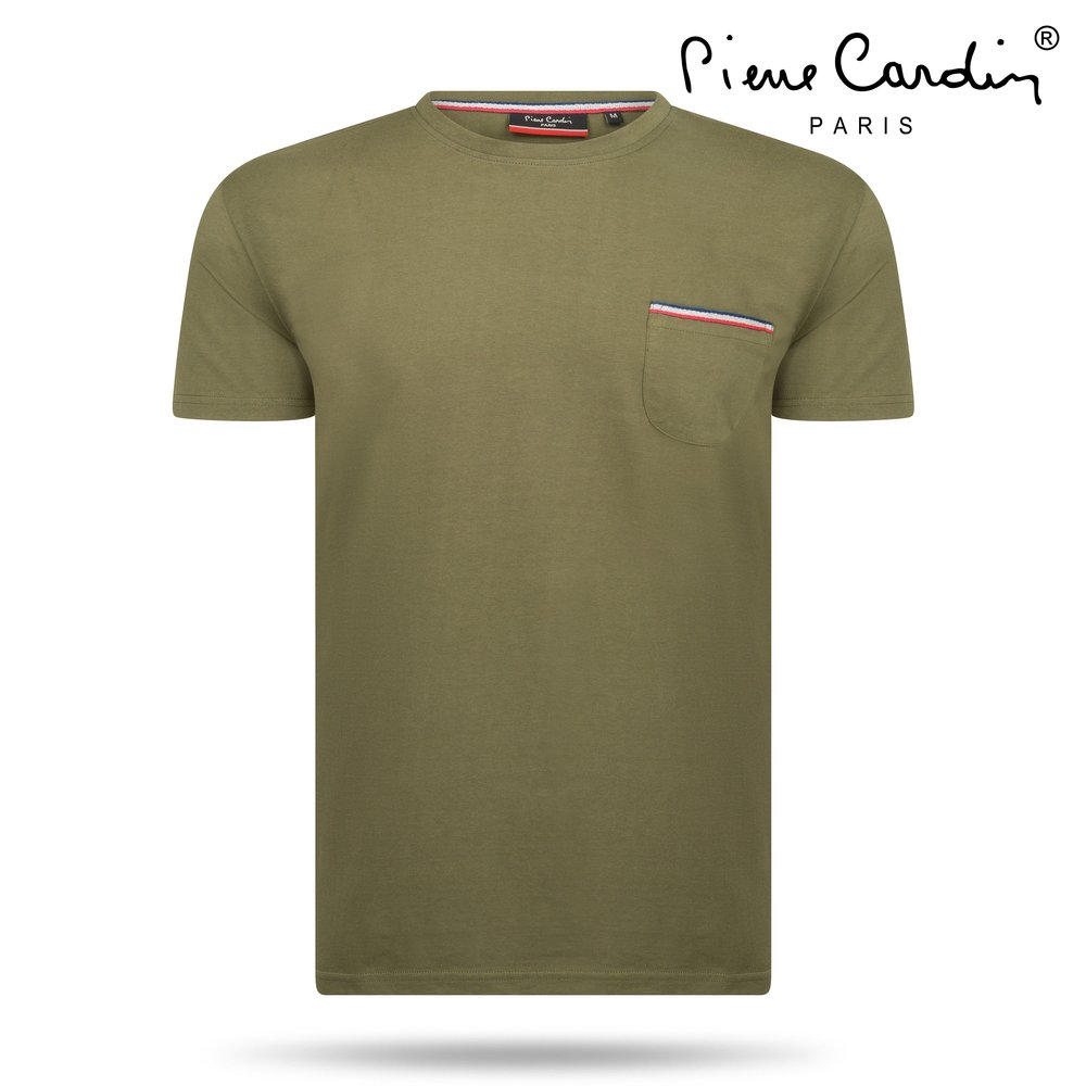 Pierre Cardin Pierre Cardin - Men's T-Shirt - Round Neck - Army