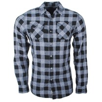 Earthbound - Men`s Shirt - 2 Chest pockets - Checkered - Grey