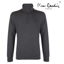Pierre Cardin Pierre Cardin - Men's Sweater with zipper - Dark Grey