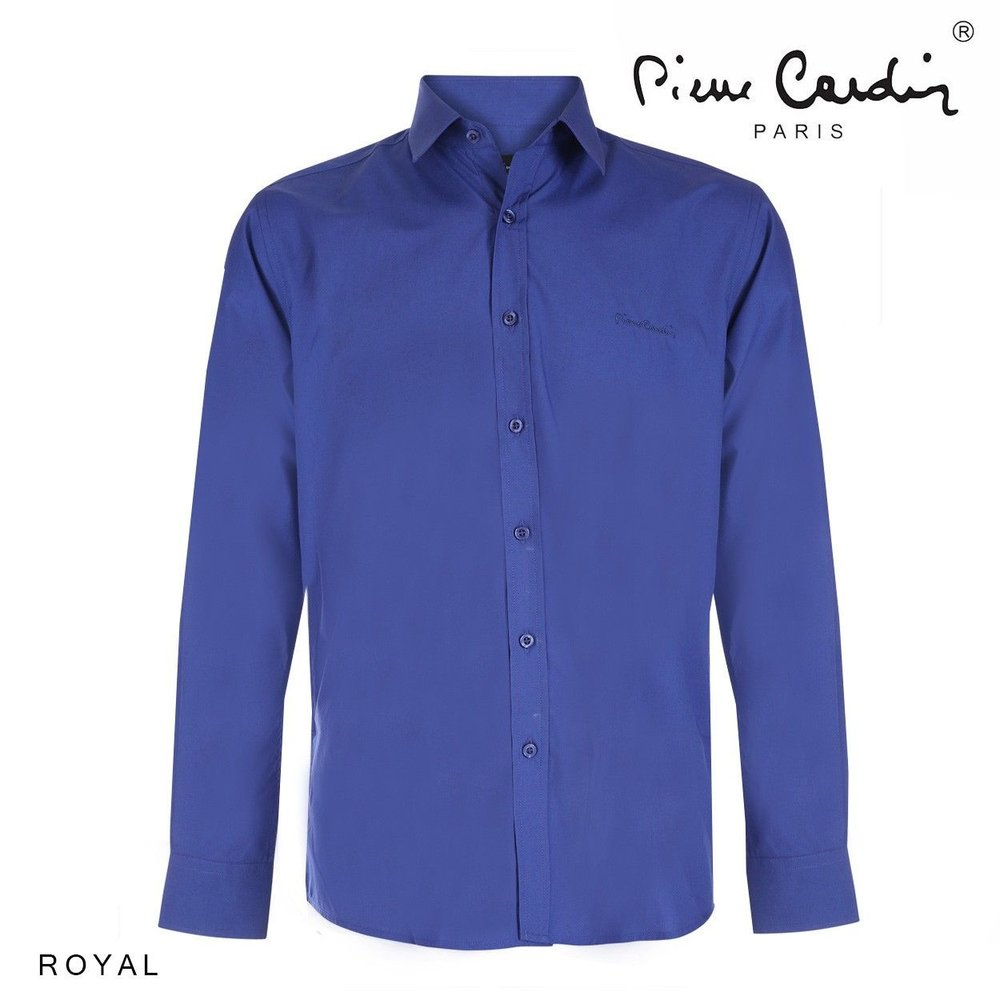 Pierre Cardin Pierre Cardin - Men's Shirt - Stretch - Blue