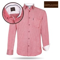 Cappuccino - Men`s Shirt - Chest pocket -  Red