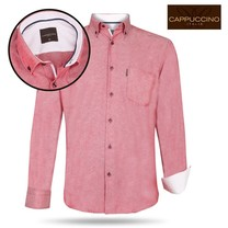 Cappuccino Cappuccino - Men`s Shirt - Chest pocket -  Red
