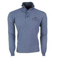 MZ72 MZ72 -  Men`s Pullover - Troyer Collar - Fine Knitted - Grey