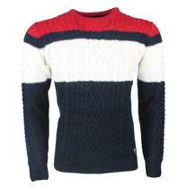 The Wild Stream MZ72 - Pull pour homme - Tricot - Marine Blanc Rouge