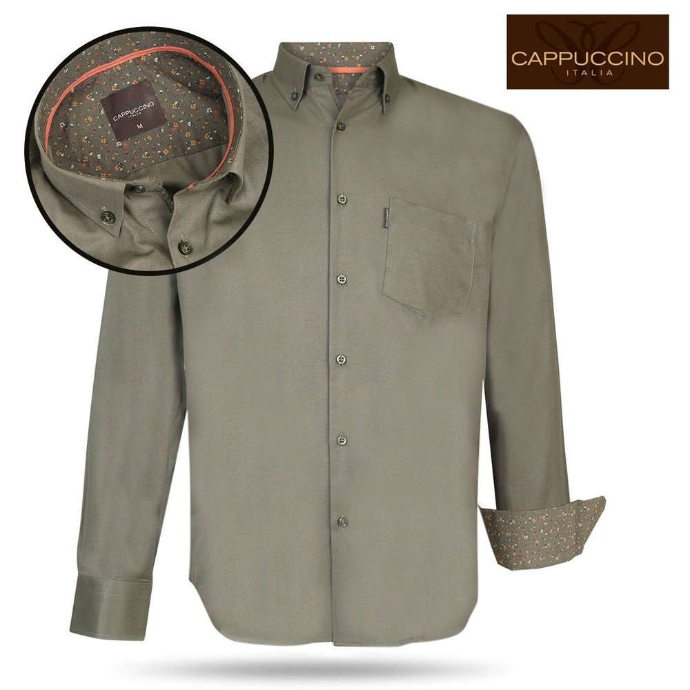 Cappuccino - Men`s Shirt - Chest pocket -  Army